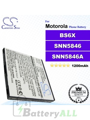 CS-MOA555SL For Motorola Phone Battery Model BS6X / SNN5846 / SNN5846A