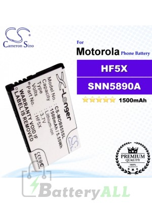 CS-MOB855SL For Motorola Phone Battery Model HF5X / SNN5890A