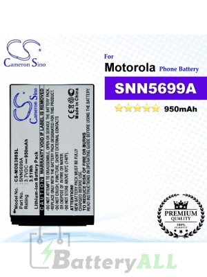 CS-MOE398SL For Motorola Phone Battery Model SNN5699A
