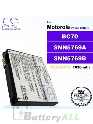 CS-MOE6SL For Motorola Phone Battery Model BC70 / SNN5769A / SNN5769B