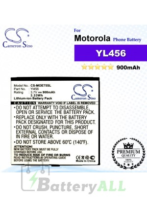 CS-MOE75SL For Motorola Phone Battery Model YL456