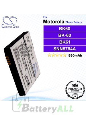 CS-MOE8SL For Motorola Phone Battery Model BK60 / BK-60 / BK61 / BK-61 / SNN5756A / SNN5784A / SNN5795 / SNN5795A / SNN5795C / SNN5815 / SNN5815A