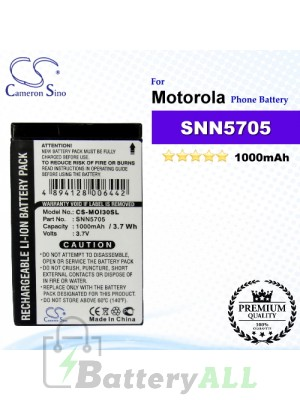 CS-MOI30SL For Motorola Phone Battery Model SNN5705