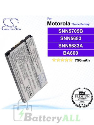 CS-MOV60SL For Motorola Phone Battery Model SNN5705B