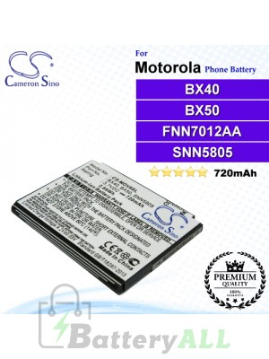 CS-MOV9SL For Motorola Phone Battery Model BX40 / BX50 / FNN7012AA / SNN5805 / SNN5805A / SNN5807 / SNN5807A