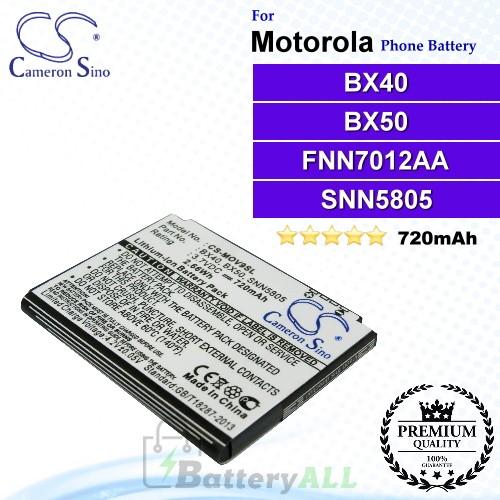 CS-MOV9SL For Motorola Phone Battery Model BX40 / BX50 / FNN7012AA / SNN5805 / SNN5805A / SNN5807 / SNN5807A