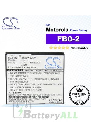 CS-MWX435SL For Motorola Phone Battery Model FB0-2