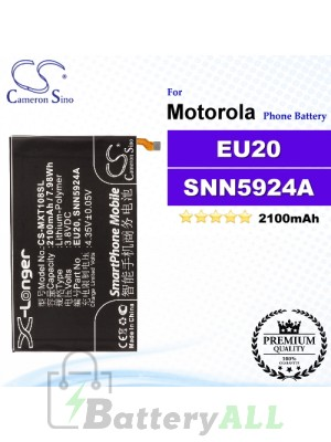CS-MXT108SL For Motorola Phone Battery Model EU20 / SNN5924A