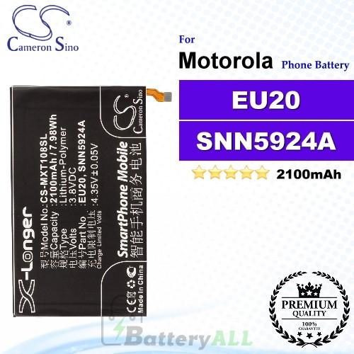 CS-MXT108SL For Motorola Phone Battery Model EU20 / SNN5924A