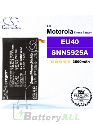 CS-MXT109SL For Motorola Phone Battery Model EU40 / SNN5925A