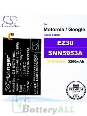CS-MXT110SL For Motorola / Google Phone Battery Model EZ30 / SNN5953A