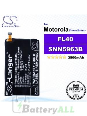 CS-MXT154SL For Motorola Phone Battery Model FL40 / SNN5963B