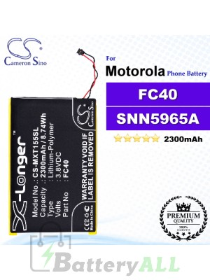 CS-MXT155SL For Motorola Phone Battery Model FC40 / FC40-T / SNN5965A / SNN5967A