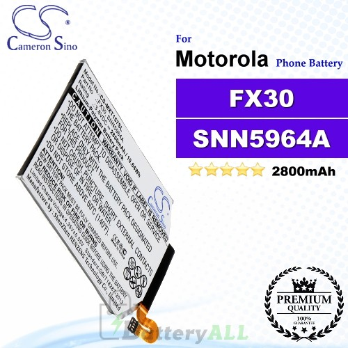 CS-MXT157SL For Motorola Phone Battery Model FX30 / SNN5964A