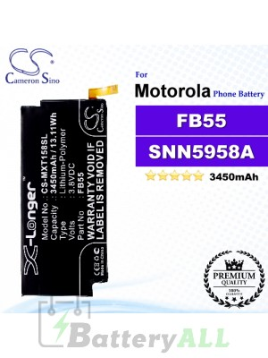 CS-MXT158SL For Motorola Phone Battery Model FB55 / SNN5958A