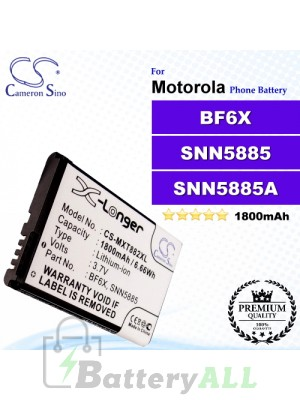 CS-MXT882XL For Motorola Phone Battery Model BF6X / SNN5885 / SNN5885A