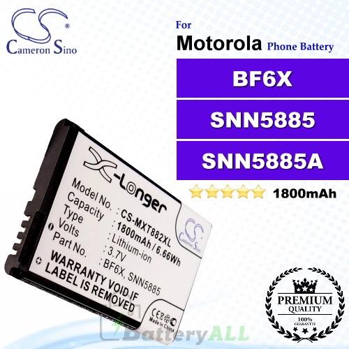 CS-MXT882XL For Motorola Phone Battery Model BF6X / SNN5885 / SNN5885A