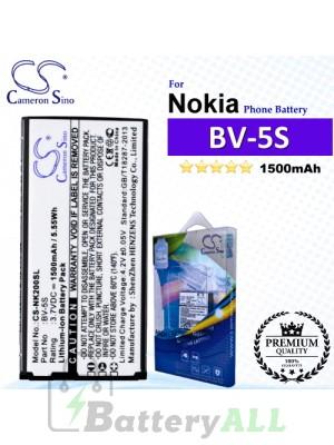 CS-NK200SL For Nokia Phone Battery Model BV-5S