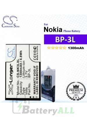 CS-NK3LXL For Nokia Phone Battery Model BP-3L