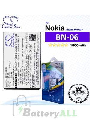 CS-NK430SL For Nokia Phone Battery Model BN-06