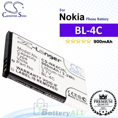 CS-NK4CHL For Nokia Phone Battery Model BL-4C