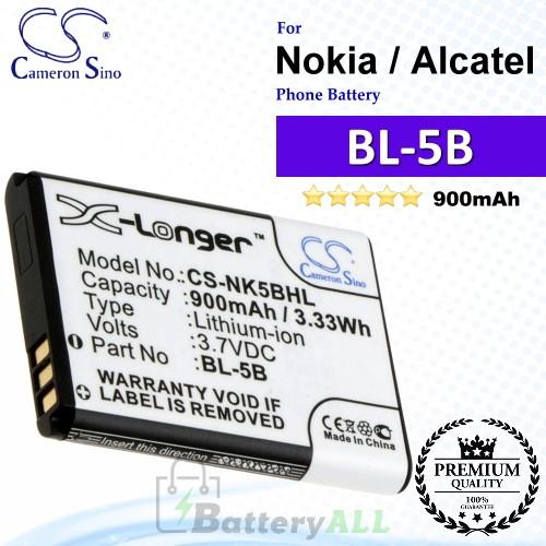 CS-NK5BHL For Nokia Phone Battery Model BL-5B