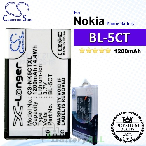 CS-NK5CTXL For Nokia Phone Battery Model BL-5CT