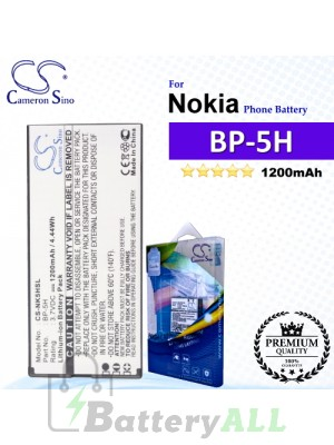 CS-NK5HSL For Nokia Phone Battery Model BP-5H