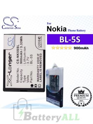 CS-NK5SSL For Nokia Phone Battery Model BL-5S