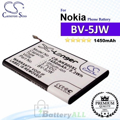 CS-NK800XL For Nokia Phone Battery Model BV-5JW