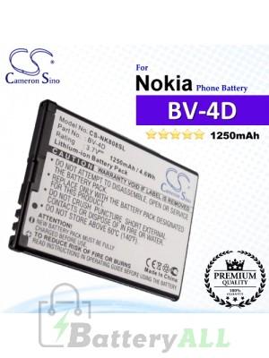 CS-NK808SL For Nokia Phone Battery Model BV-4D