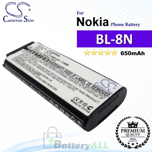 CS-NK8NSL For Nokia Phone Battery Model BL-8N