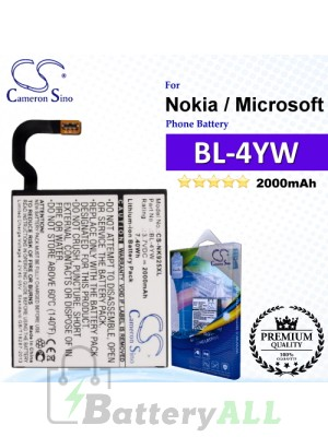 CS-NK925XL For Nokia / Microsoft Phone Battery Model BL-4YW