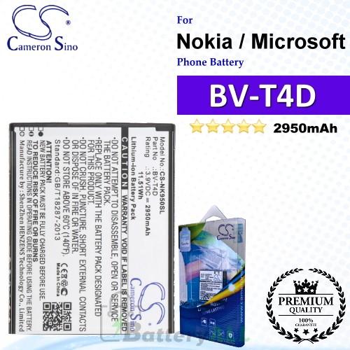 CS-NK950SL For Nokia / Microsoft Phone Battery Model BV-T4D