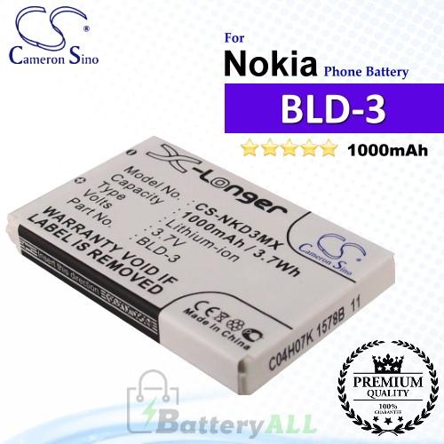 CS-NKD3MX For Nokia Phone Battery Model BLD-3