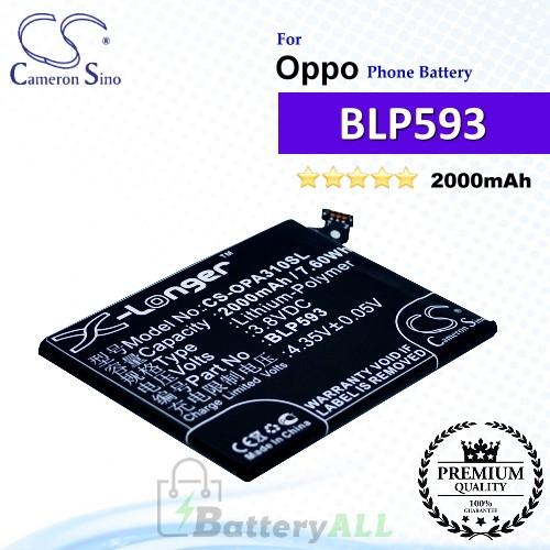 CS-OPA310SL For Oppo Phone Battery Model BLP593