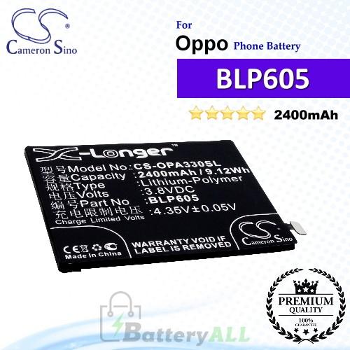 CS-OPA330SL For Oppo Phone Battery Model BLP605