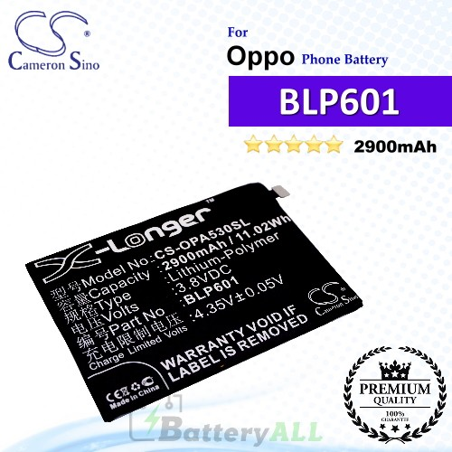 CS-OPA530SL For Oppo Phone Battery Model BLP601