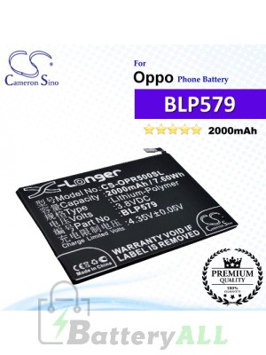 CS-OPR500SL For Oppo Phone Battery Model BLP579