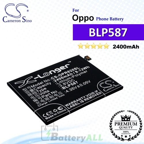 CS-OPR820SL For Oppo Phone Battery Model BLP587