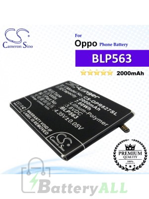 CS-OPR827SL For Oppo Phone Battery Model BLP563