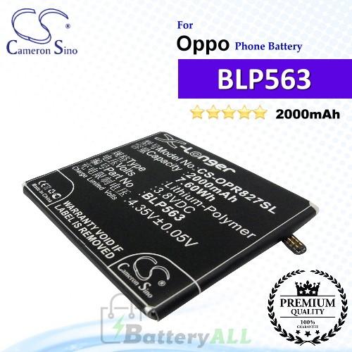 CS-OPR827SL For Oppo Phone Battery Model BLP563