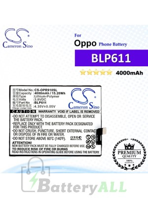 CS-OPR910SL For Oppo Phone Battery Model BLP611