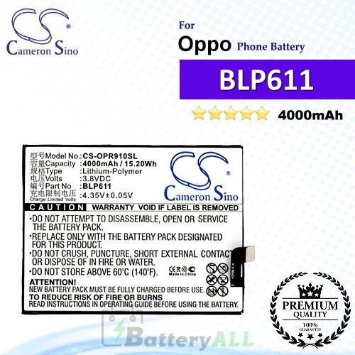 CS-OPR910SL For Oppo Phone Battery Model BLP611