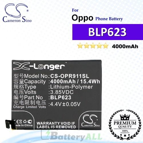 CS-OPR911SL For Oppo Phone Battery Model BLP623