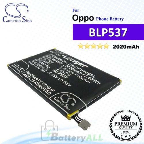 CS-OPU705SL For Oppo Phone Battery Model BLP537