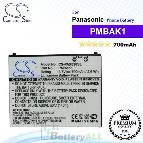 CS-PAX830SL For Panasonic Phone Battery Model PMBAK1