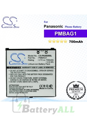 CS-PAX920SL For Panasonic Phone Battery Model PMBAG1