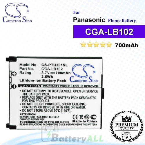 CS-PTU301SL For Panasonic Phone Battery Model CGA-LB102
