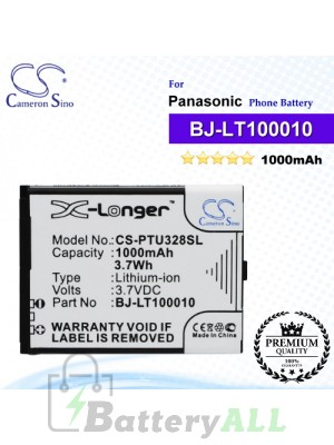 CS-PTU328SL For Panasonic Phone Battery Model BJ-LT100010